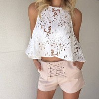 High Waist Pants Vacation Shorts [9818998349]