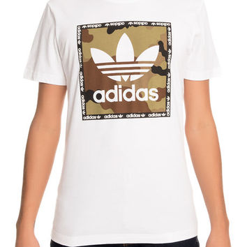 The adidas Camo Box Tee in White