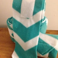 Turquoise Chevron Print Polo Wraps (set of four)