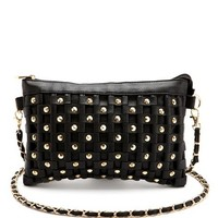 Studded Chain Strap Cross-Body Bag