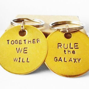 Personalized Star Wars Keychain Key Ring bff best friends father son wedding gift for him anniversary boyfriend