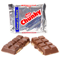 Nestle Chunky Giant Size Candy Bars: 12-Piece Box