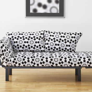 Michael Anthony Furniture Black Metal Futon Frame