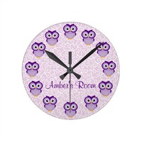 Purple Owl Personalized