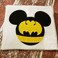 Bat Super hero Mouse Custom embroidered Disney Inspired Vacation Shirts for the Family!