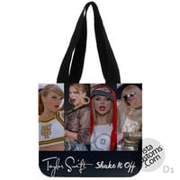 Taylor Swifts Shake It Off Collage 2 New Hot, handmade bag, canvas bag, tote bag