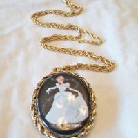Cinderella Cameo Pin Pendant Necklace Disney Jewelry Fashion Accessories For Her