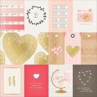 "Crate Paper Kiss Kiss 12""x12"" Specialty Cardstock Element Cards 683612"