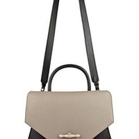 GIVENCHY OBSEDIA SMALL SHOULDER BAG IN GRAY AND BLACK LEATHER