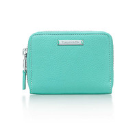 Tiffany & Co. - Zip card case in Tiffany Blue® grain leather. More colors available.
