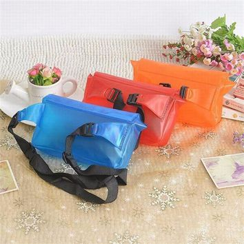 Men Women Outdoor Mini Swimming Waterproof Case Bag Underwater for Mobile Phone PVC Purse Waist Bag