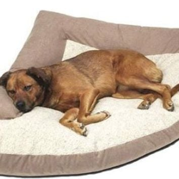 "Caddis Corner Dog Bed with Bolster Large 44"" x 64"" x 44"" Khaki"