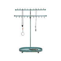 Country Cottage Jewelry Holder in Aqua