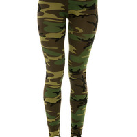 The Camo Leggings in Woodland