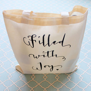 Filled With Joy Wedding Welcome Bag Everyday Tote Bag