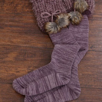 WB Baby Bum Boot Sock With Fur Asst