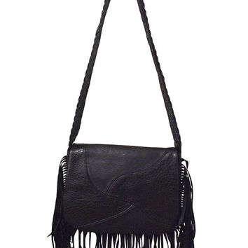 Fringed Messenger Bag