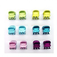 SG Paris Kiddy Hair Clip 1cm 12pcs/Crd Multicolor Matt Finish Multicouleur Hair Clips Claw Clip Plastic Summer Kid Cute Kawai Fashion Jewelry / Hair Accessories Z Others: Jewelry: Amazon.com