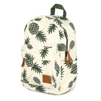 Canvas bakcpacks for teenage girls pineapple printing