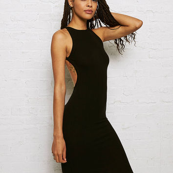 Don't Ask Why Ribbed Halter Midi Dress, Black