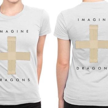CREYH9S Imagine Dragons Cross Symbol Image B 2 Sided Womens T Shirt