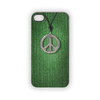 Green Peace Case, iPhone Case, Irish, Emerald Green, Pantone, Woodland, Hipster, Nature, Outdoors, Men, Women, Country, iPhone 5, 4S, 4