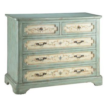 Stein World Painted Treasures 5 Drawer Chest