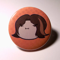 "Game Grumps Arin Hanson Grump Head Pinback Button (1-1/4"")"