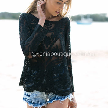 Lace Moment Knit Top