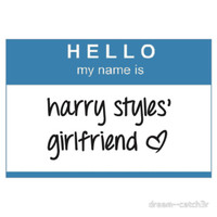 Hello My Name Is Harry Styles' Girlfriend T-Shirt T-Shirts & Hoodies