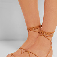 Michael Kors | Bradshaw leather sandals | NET-A-PORTER.COM