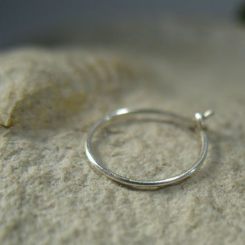 Super Thin Silver Nose Ring