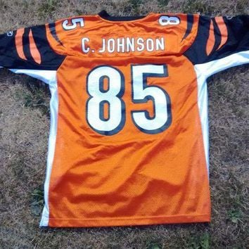 DCCKIN9 NFL-Reebok - Cincinnati Bengals C.Johnson 85 - Throwback Jersey-Mens Medium