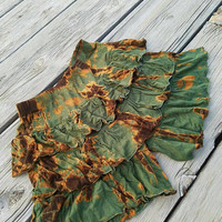 Earth Faerie Tie Dyed Ruffled Shorts