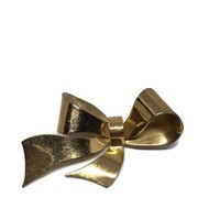 Vintage Christmas Brooch, 1950's Coro Sterling with Gold Wash Bow Brooch, Mid Century Brooch, Christmas Jewelry, Gifts Under 25