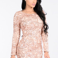 2017 Women O Neck Long Sleeve Gold Sequined Party Dresses Sexy Night Club Dress Geometric Print Mini Bodycon Backless Vestidos