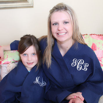 Flower Girl Robe Monogram kids waffle robe Flower Girl gift