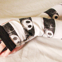 Fingerless Gloves Jack Skellington Skull Arm by Sew4Munchkins