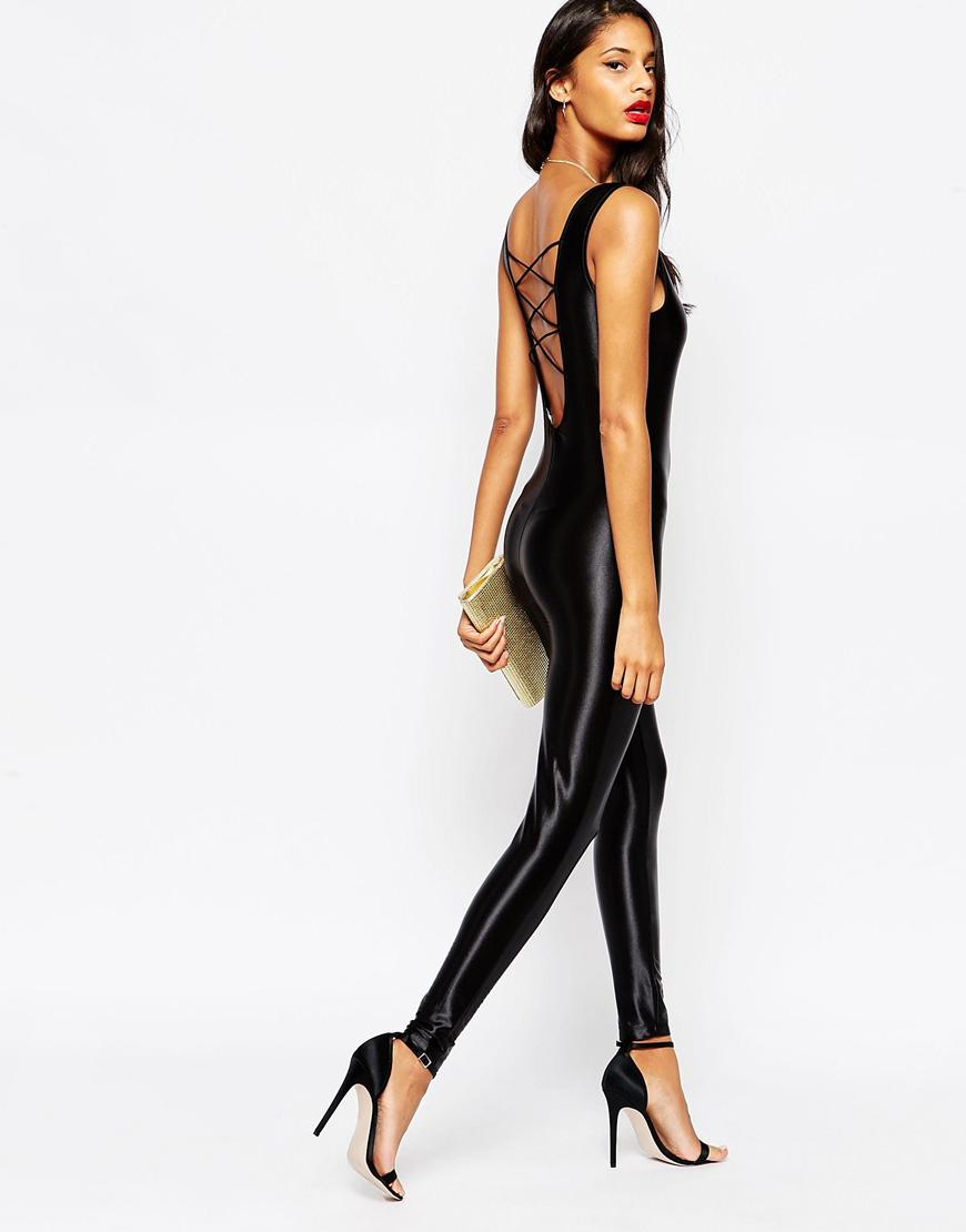 Asos Disco Unitard With Lace Up Back From Asos-4474