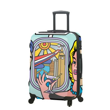 """Jozza """"First Class"""" Graphic Hardside Luggage 24"""" Spinner"""