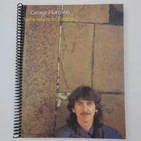 "GEORGE HARRISON Notebook  - ""Somewhere In England"" Record Cover"