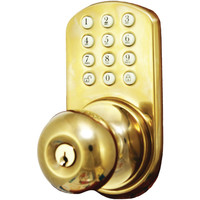 Morning Industry Inc Touchpad Electronic Door Knob (polished Brass)
