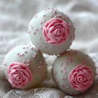 Mother's Day Pink Rose Cake pops Birthdays / Showers / Graduation / Party / Parties (12ct)