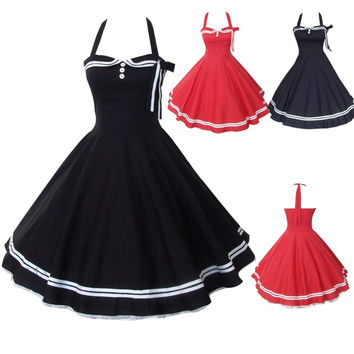 Maggie Tang 50s 60s Vintage Drancing Party Swing Jive Rockabilly Dress W502 = 1931482884