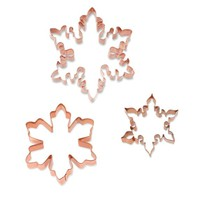 Williams-Sonoma Snowflake Copper Cookie Cutters