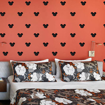"Set of 150 Mickey Mouse Heads 2"" x 2"" Polka Dot Wall Decor Sticker Decal Any Room Any Surface st-002"