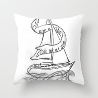 Lost At Sea Throw Pillow by Sarah Hinds