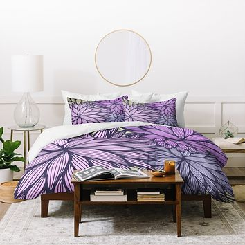 Gabi Purple Dahlia Duvet Cover
