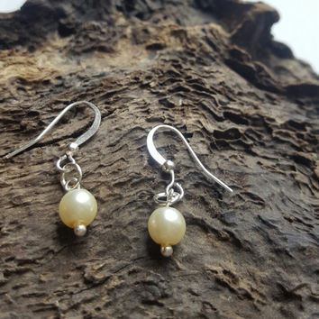 Pearl Earrings , Bridesmaid Earrings, Wedding Jewelry,  gift for mom , thank you for being my bridesmaid , be my bridesmaid , dangle earring