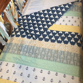Peter Pan Inspired Quilt Set, Peter Pan Crib Bedding, Peter Pan Nursery, Nautical Baby Quilt Set, Baby Bedding, Baby Boy Quilt